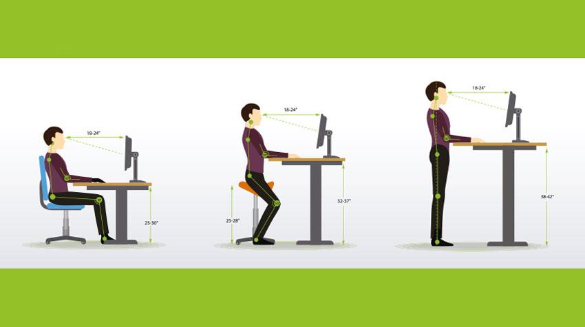 Auch einmal im Stehen zu arbeiten, hilft schon viel. © Shutterstock, Inegvin