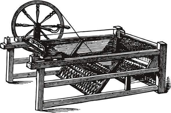 """Die """"Spinning Jenny"""" revolutionierte das Arbeitsleben nachhaltig. © Shutterstock, Morphart Creation"""